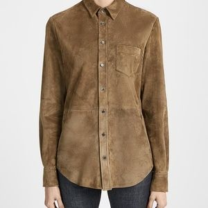 Joseph suede brown blouse